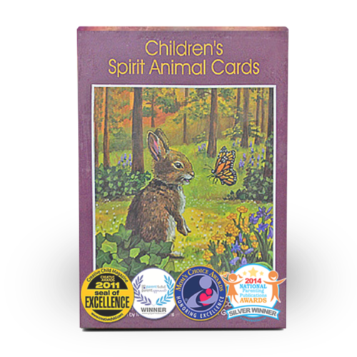 Children's animal spirit card deck for spiritual guidance through childhood, made by Dr. Steven Farmer