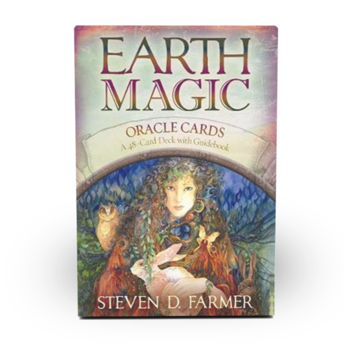 Earth Magic Oracle Card deck and guidebook with messages from the Earth's elements, made by Dr. Steven Farmer