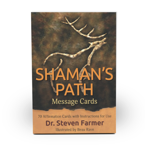 Shaman's Path Message Card deck for shamanic practice, made by Dr. Steven Farmer
