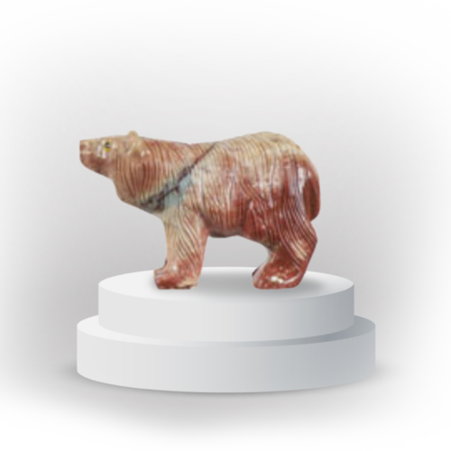 Bear animal totem in dolemite, and made in Peru, symoblizing confidence and assertiveness