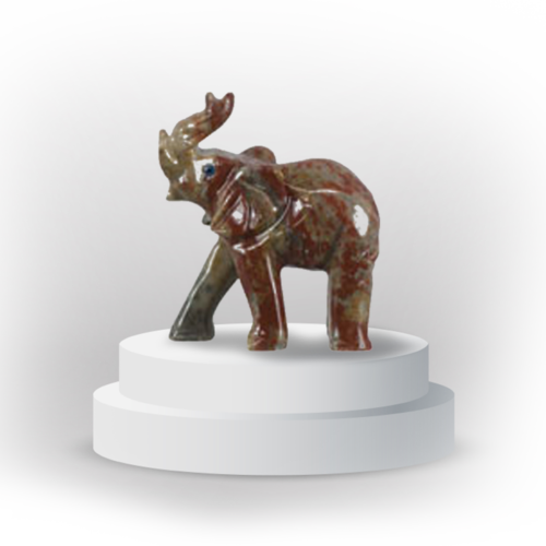 Elephant animal totem in dolemite, and made in Peru, symbolizing love and confidence