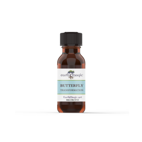 Butterfly Transformation essential oil bottle with Bergamot and Juniper Berry essential oils