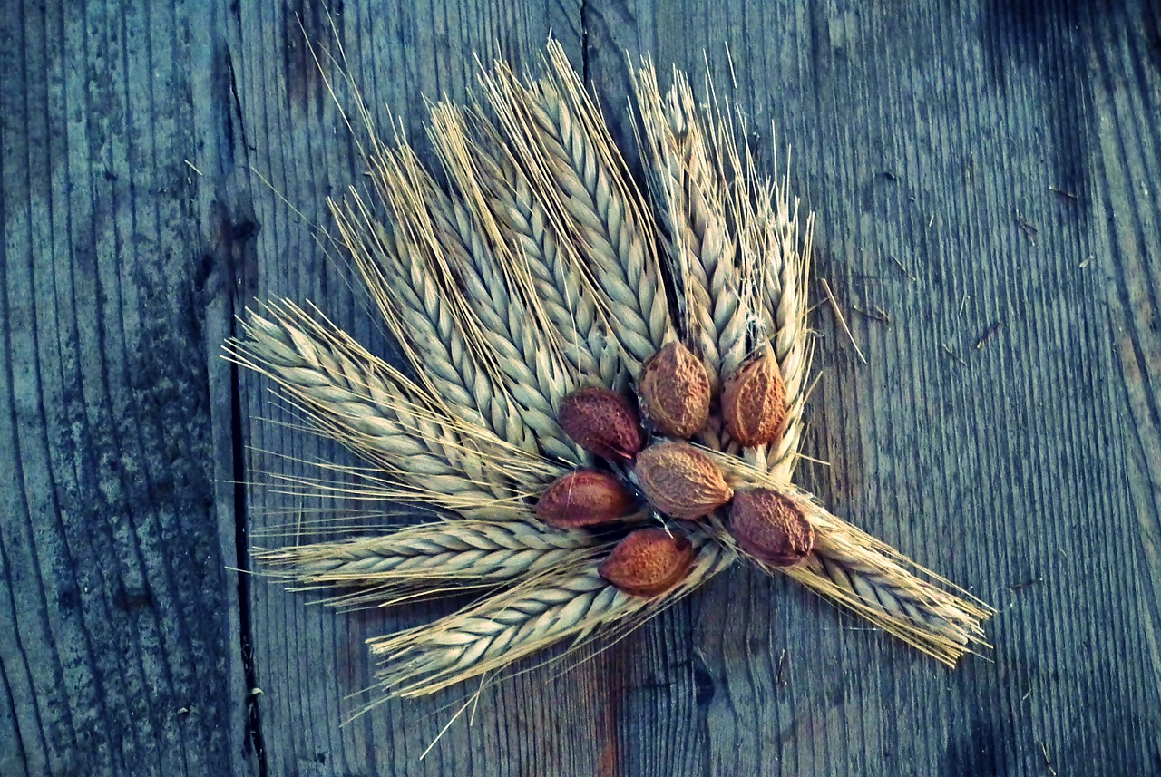 An ornament made of wheat grains